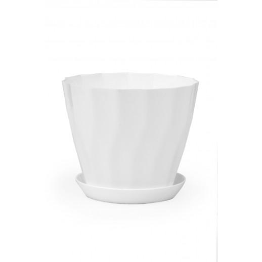 Кашпо для орхидей КАРАТ белый 1,8 Л