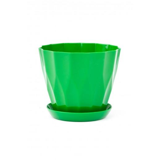 Кашпо для орхидей  КАРАТ  зеленый   0,8 Л