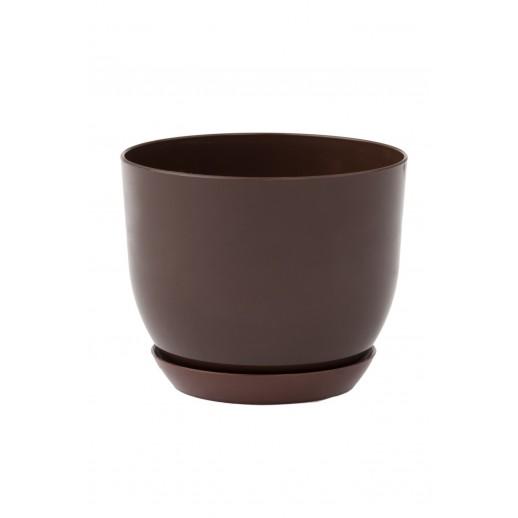 Кашпо для орхидей КЛАССИК коричневый 1 Л