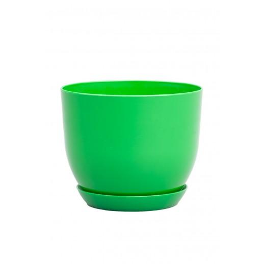 Кашпо для орхидей КЛАССИК зеленый 1 Л