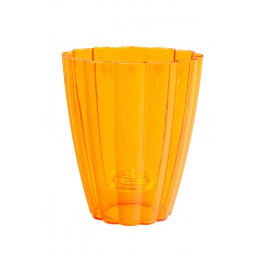 Кашпо для орхидей РОМАШКА оранжевый 1,5  Л